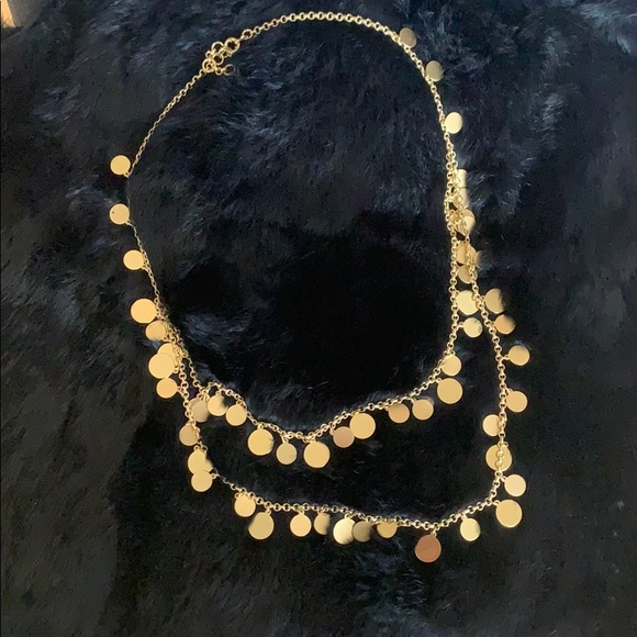 J Crew Necklace Double Layer Gold Necklace